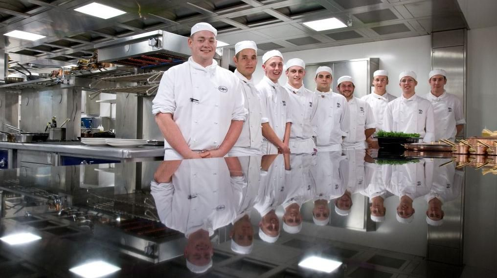 A few members of the kitchen brigade