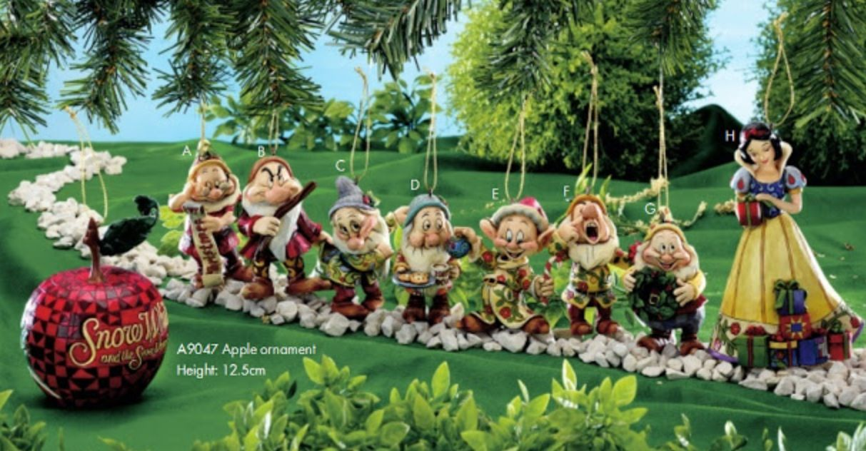 Snow White Christmas ornaments | Jim Shore | Pinterest