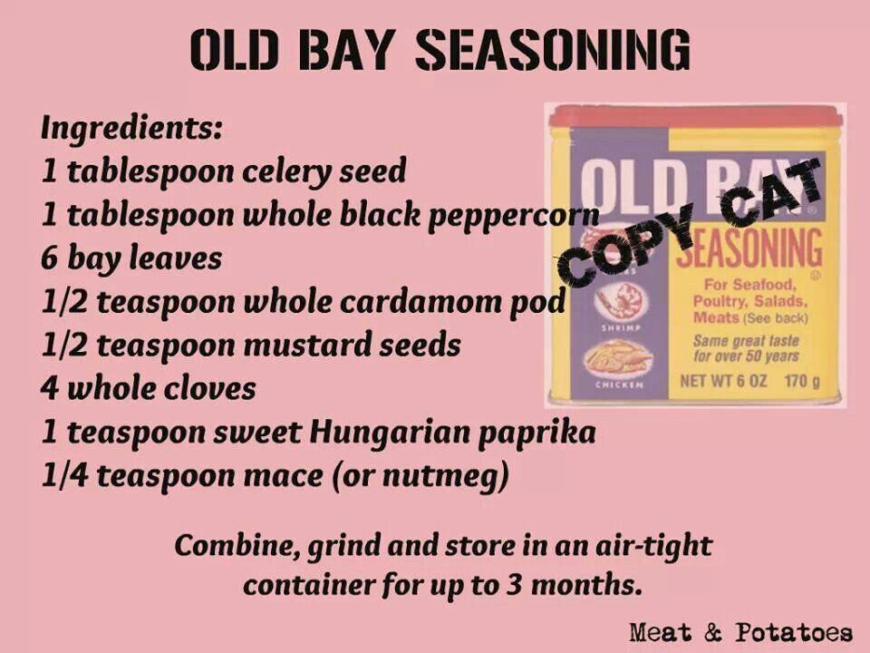 Old Bay seasoning copy cat recipe   eerything   Pinterest
