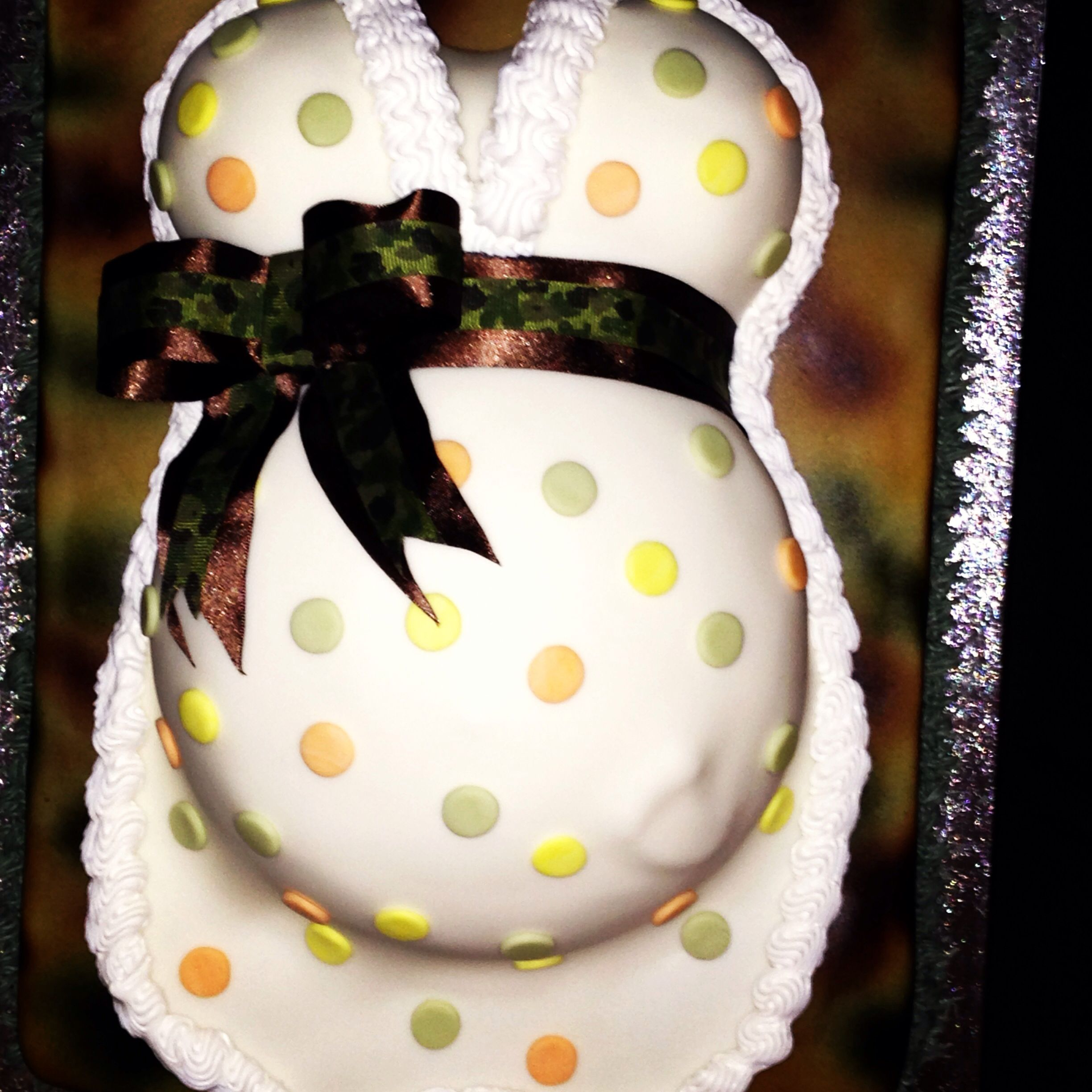 camo baby shower cake babies pinterest