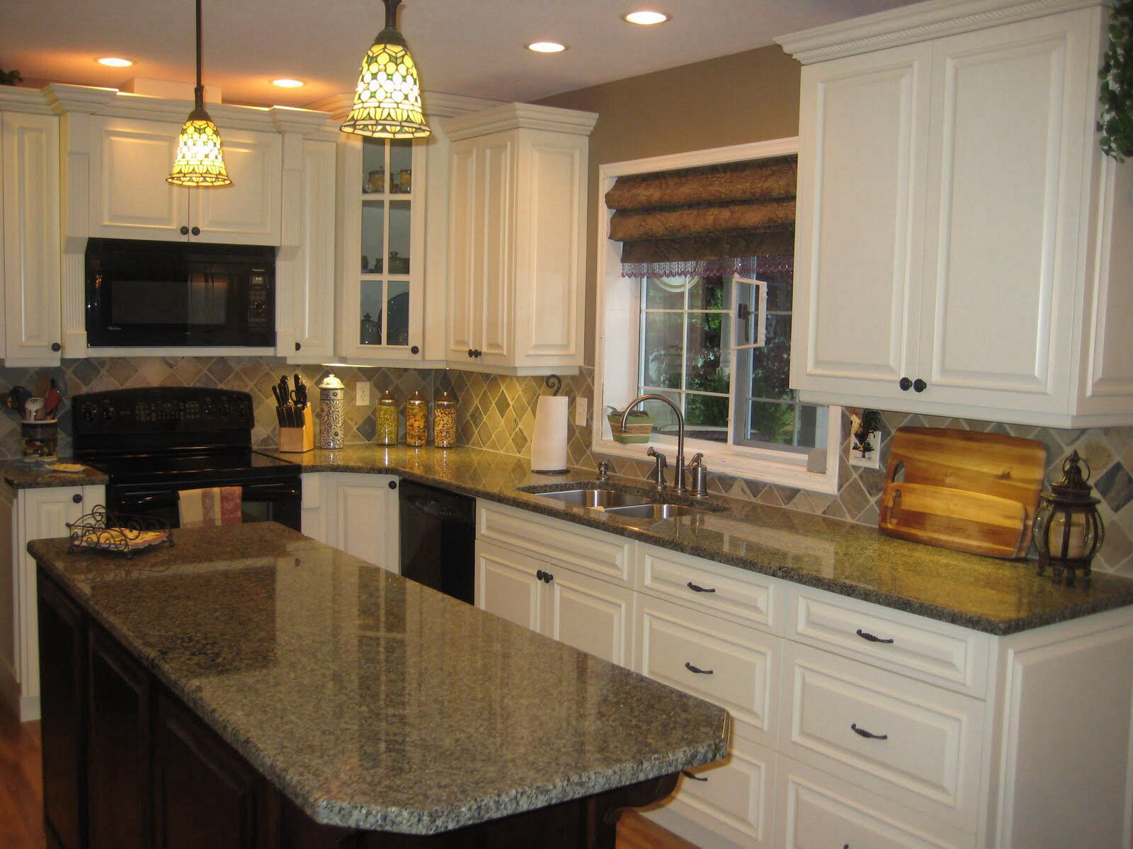 White w black appliances kitchen ideas pinterest - White kitchen cabinets black appliances ...
