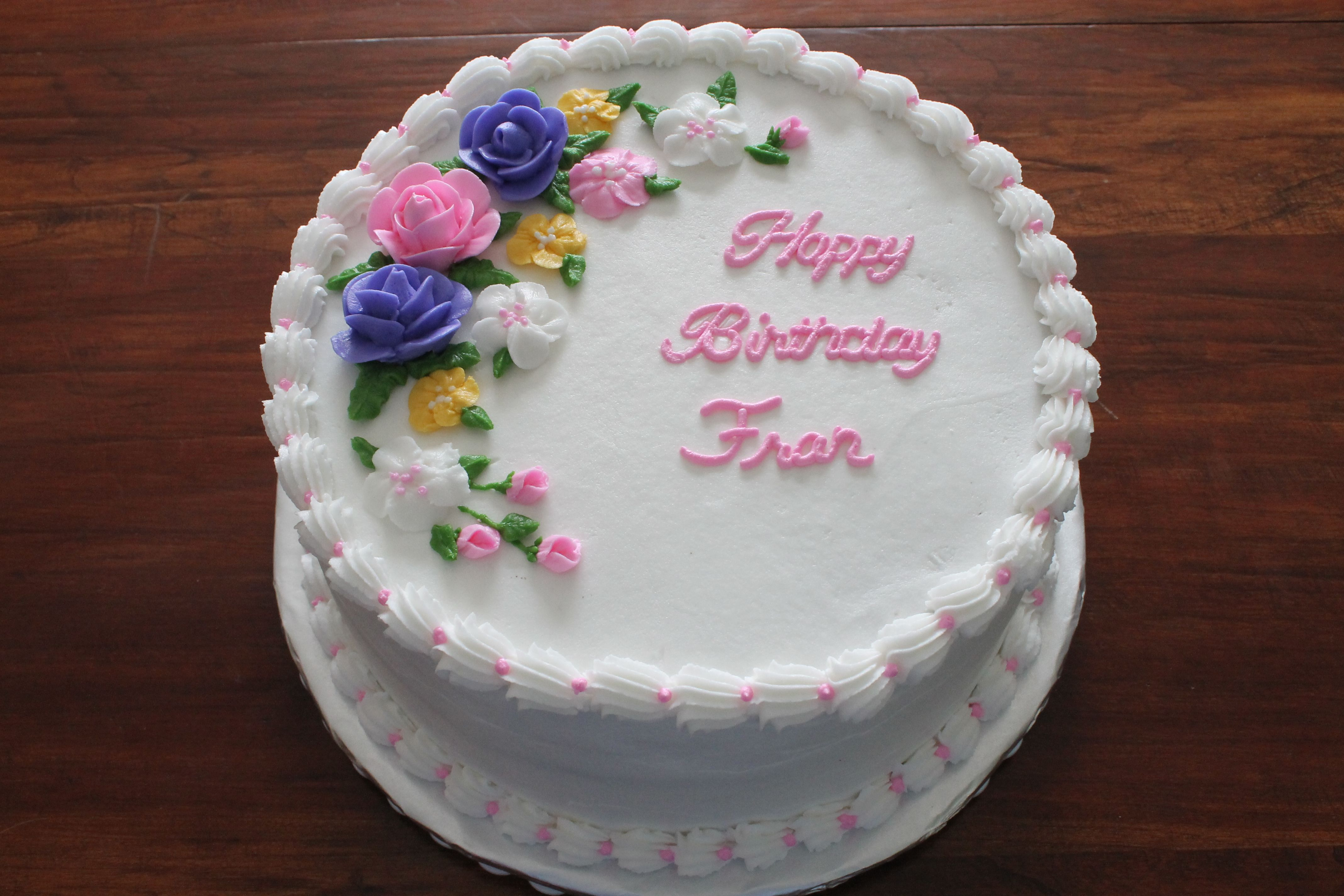 Birthday Cake Ideas With Buttercream : Buttercream birthday cake with roses Decorated round(ish ...