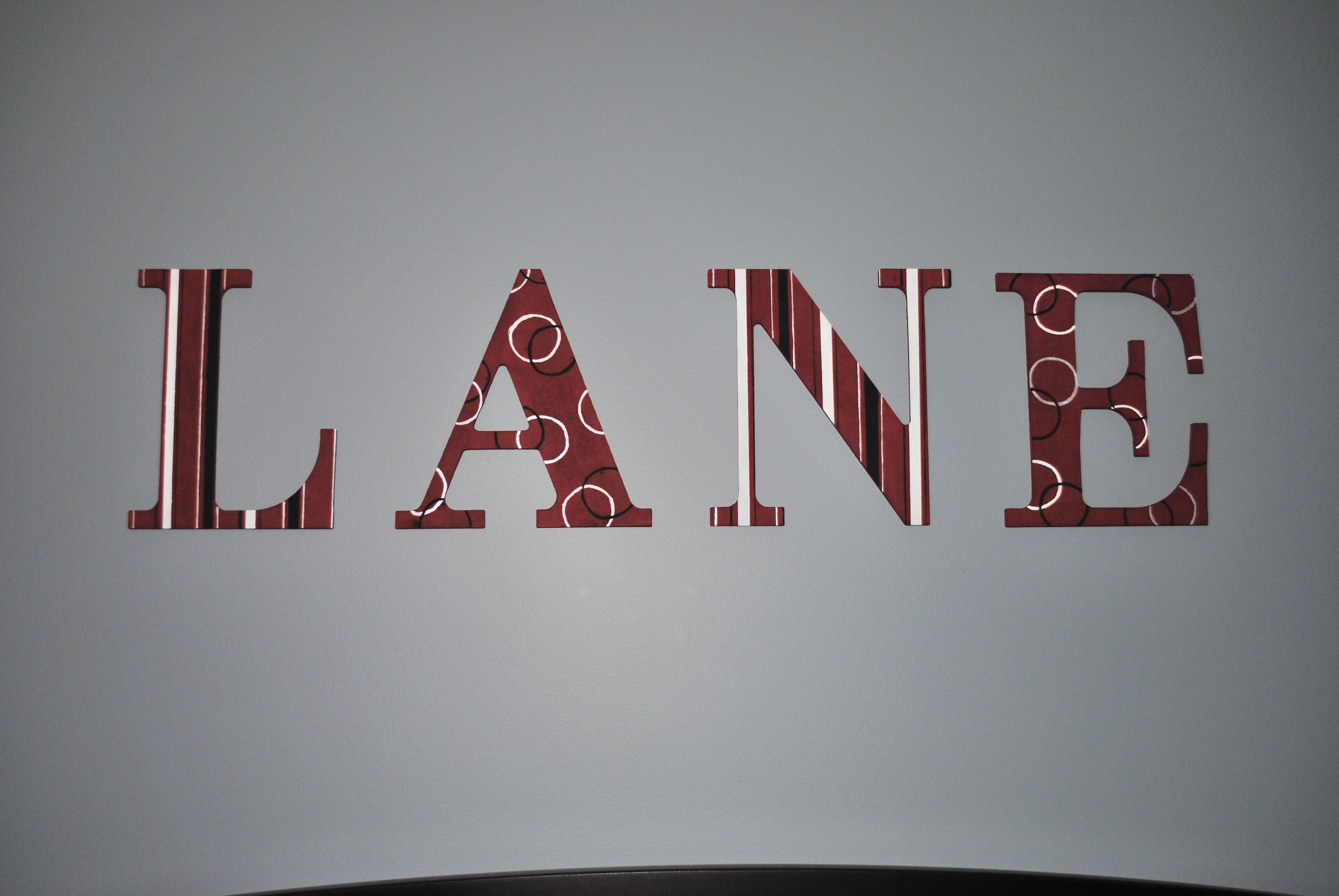 decorative wall letters Letters Pinterest