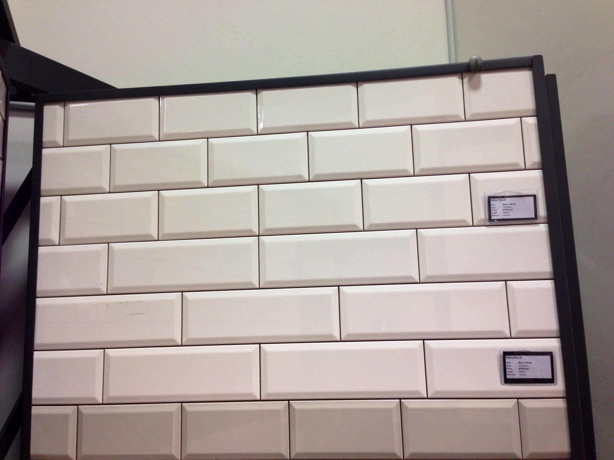White beveled subway tile the image kid for Images of subway tile