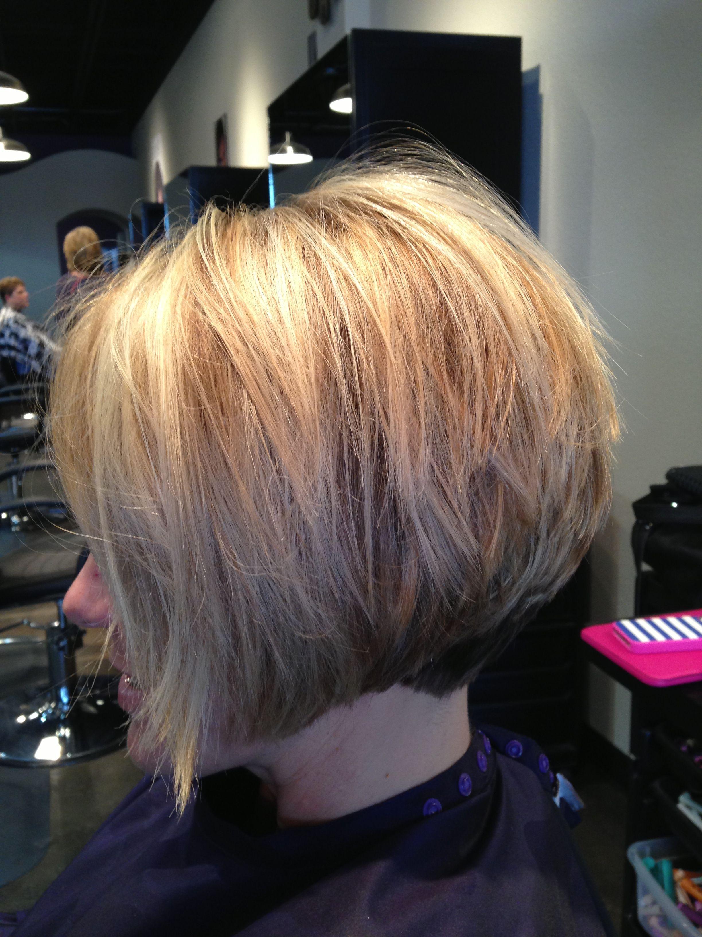 Inverted stacked bob | Short Hair | Pinterest