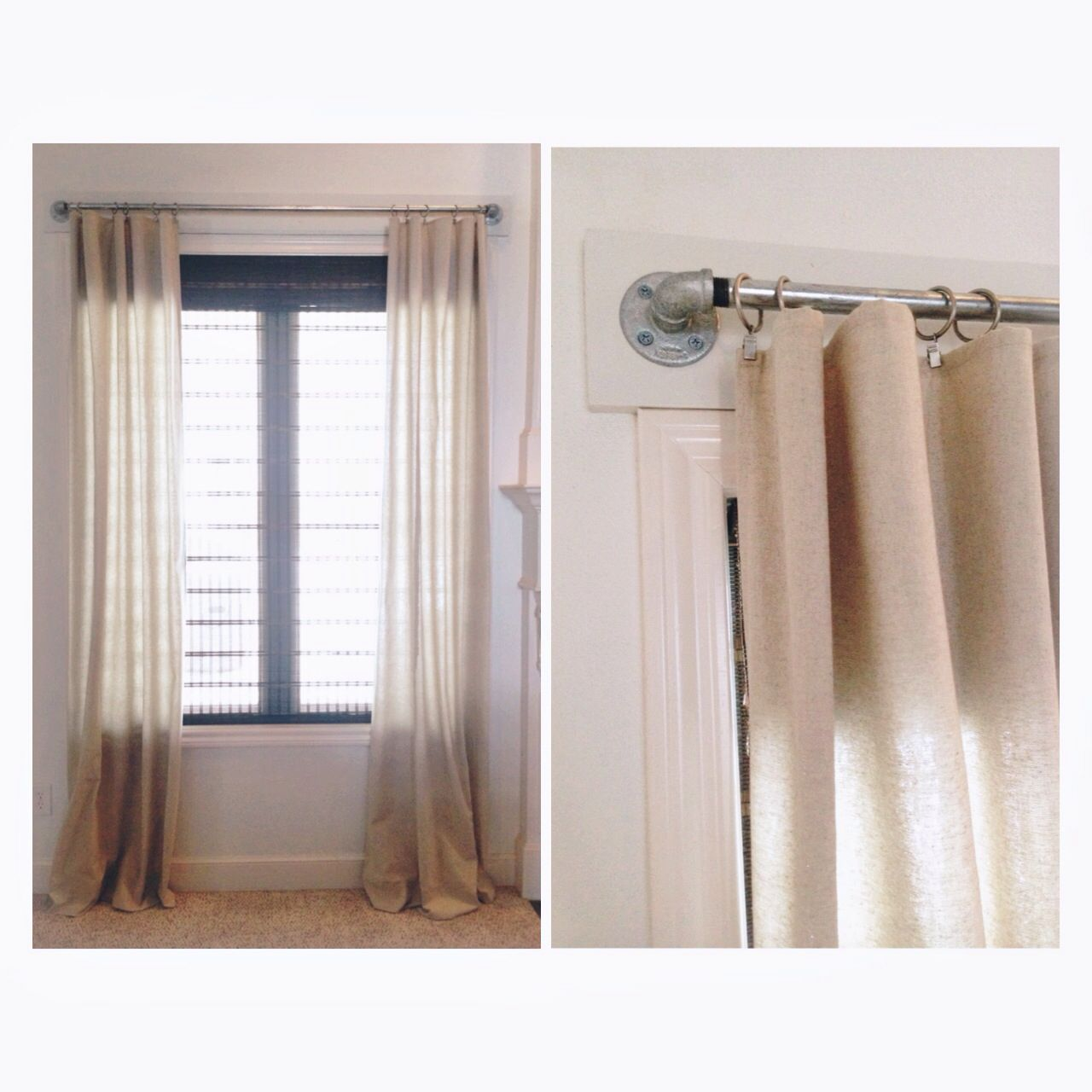 Curtain Rods Galvanized Pipe Home Ideas Pinterest