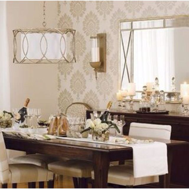 Wallpaper for dining room for the home pinterest for Dining room wallpaper