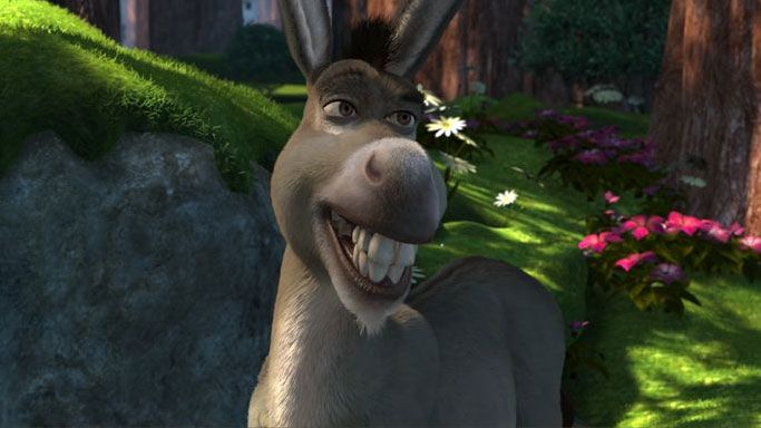 Smiling donkey shrek