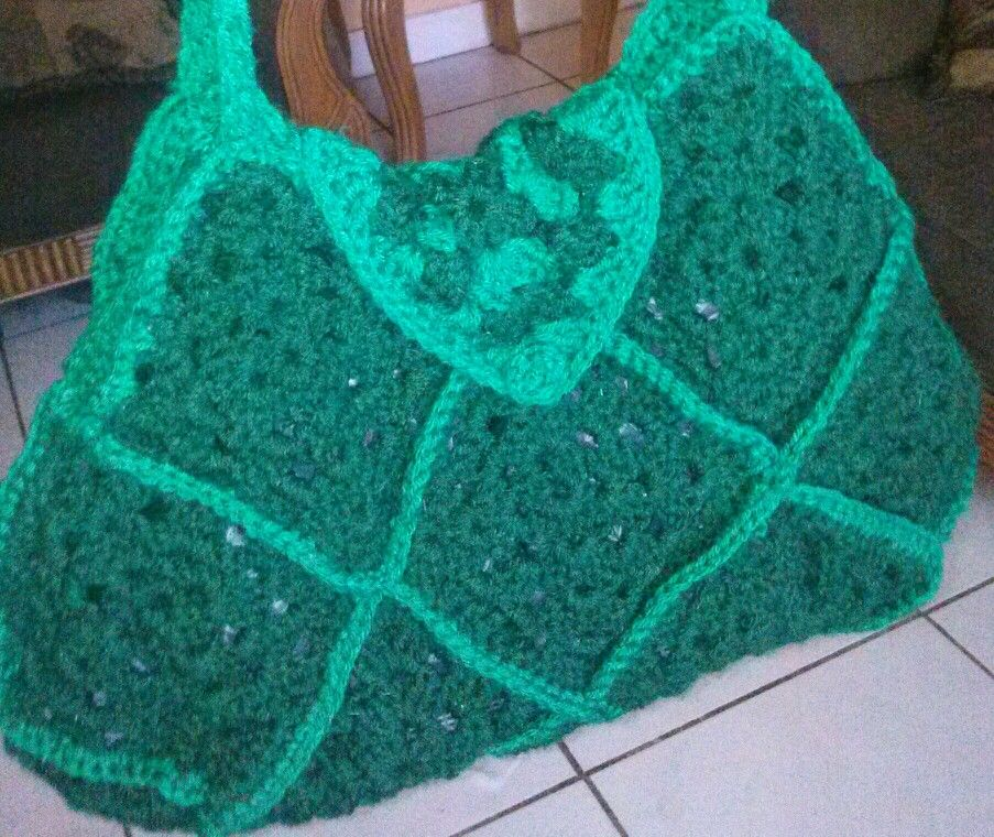 Crochet Granny Square Handbag : crochet granny square bag crochet Pinterest