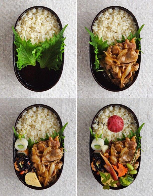 お弁当 詰め方 長方形 一段