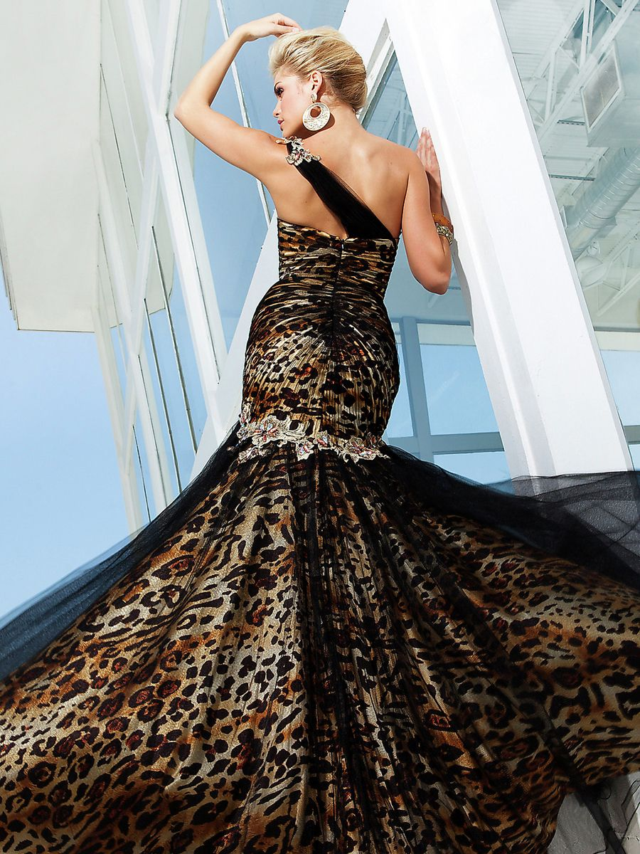 Pin by jessica mckim on animal print dresses pinterest for Zebra print wedding dress