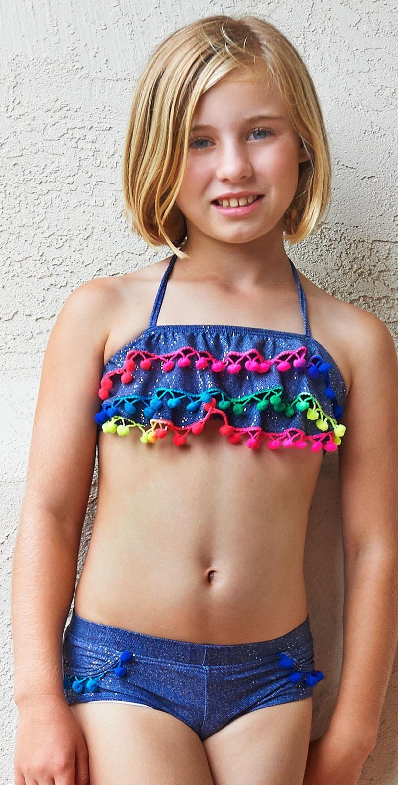 Preteen in bikini