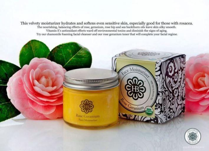 HollyBeth Organics Rose Geranium Face Moisturizer
