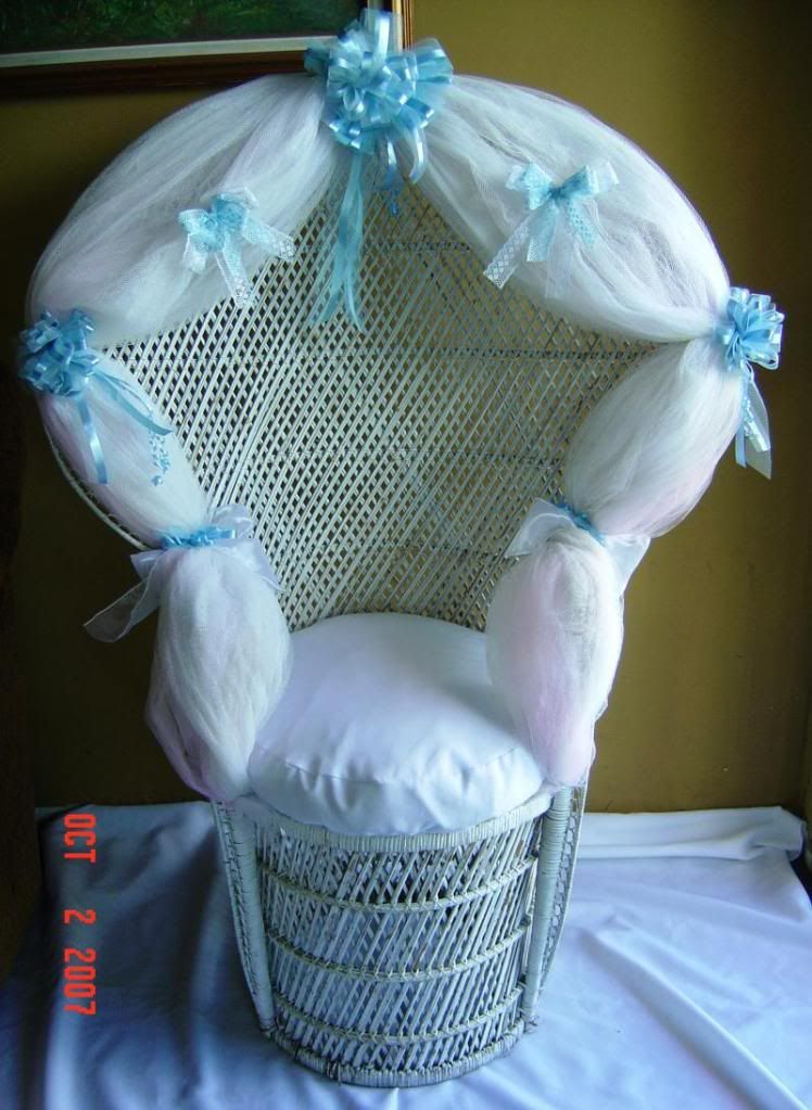 Decorate Mom to Be Chair Baby Shower Ideas