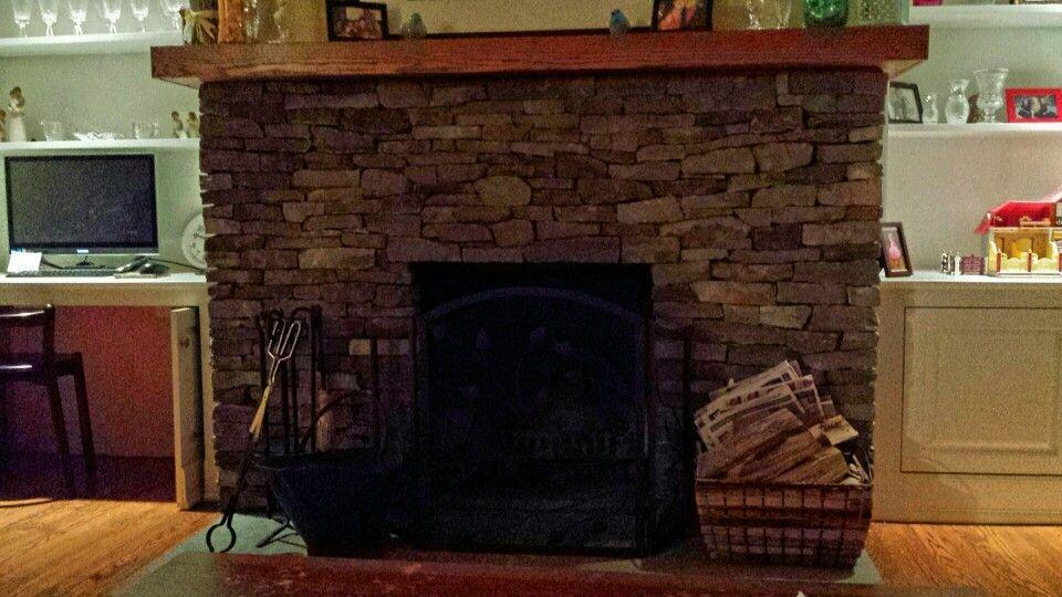 Stacked Stone Fireplace Decor Ideas Pinterest