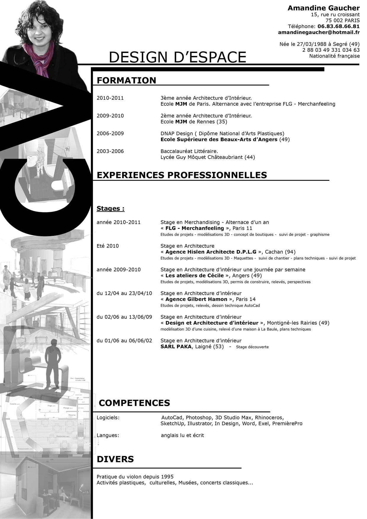 Curriculum Vitae Sample Architect