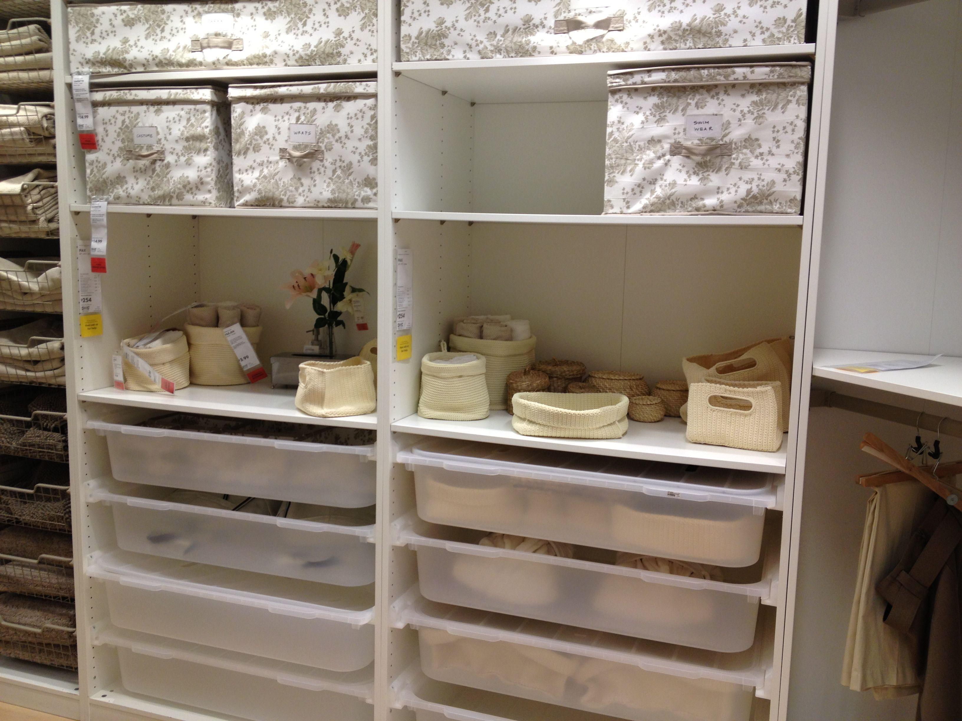 Closet organization from ikea home organization pinterest for Ikea closet storage