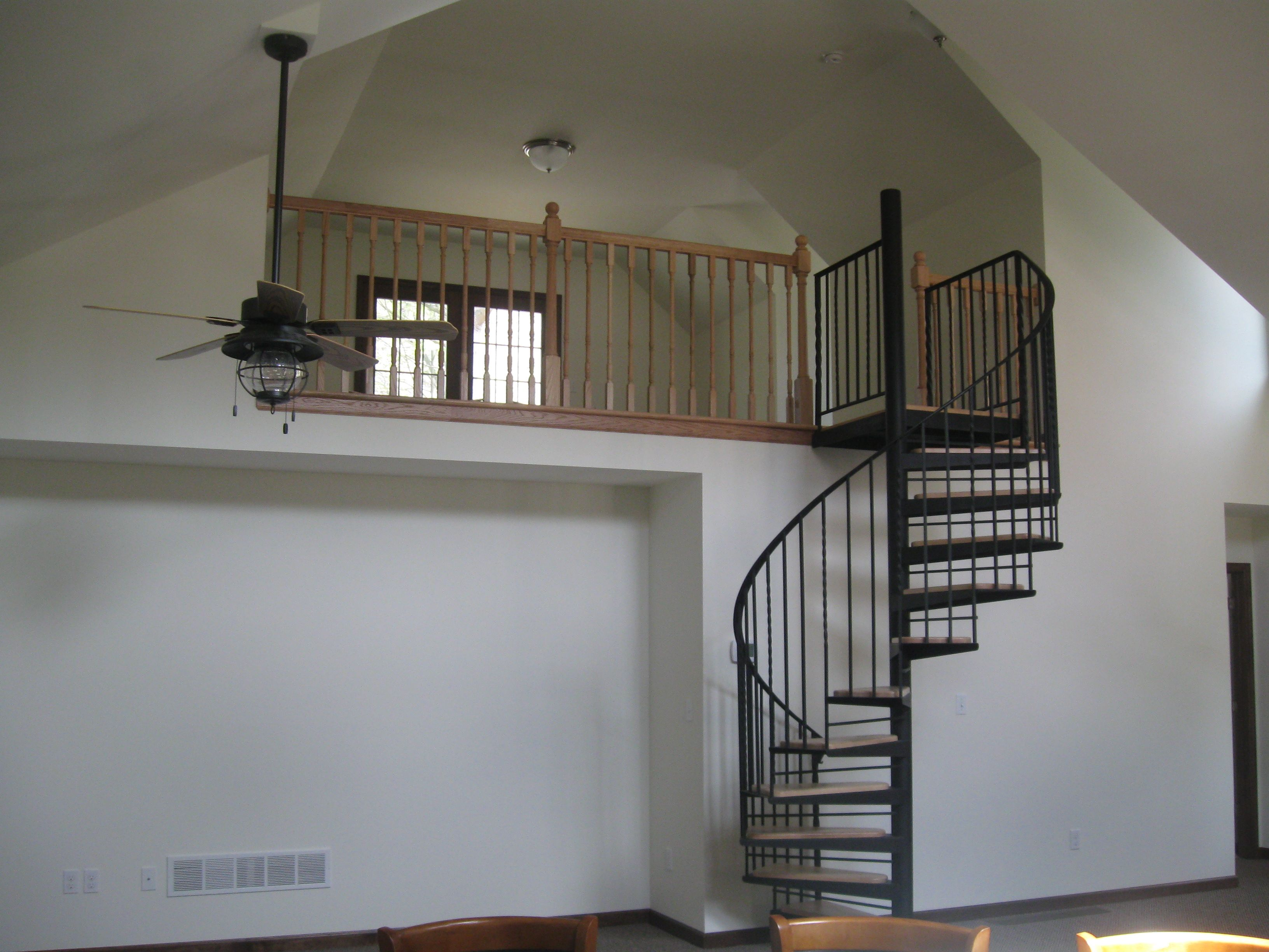 spiral staircase to loft rustic decor pinterest