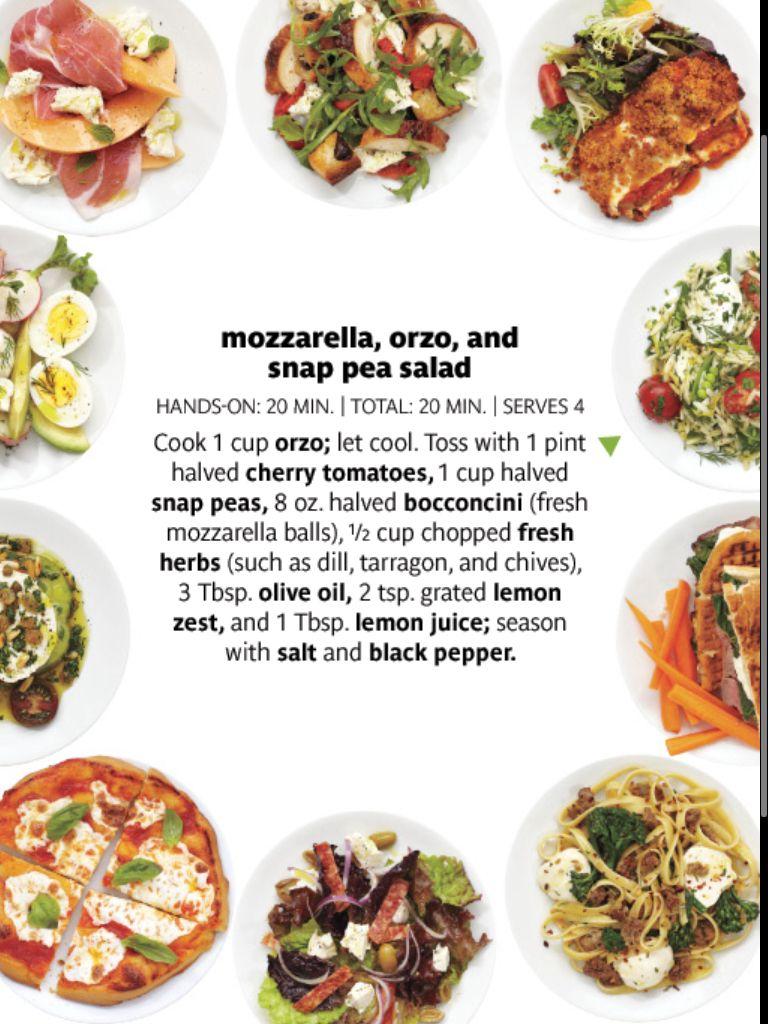 Moz, orzo and snap pea salad | Rabbit Food: Potato, Pasta, And Grain ...