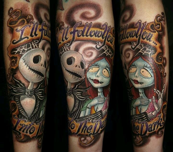 jack and sally nightmare before christmas tattoo - photo #19