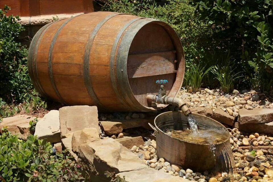 Whiskey Barrel Water Feature Whiskey Barrels Pinterest