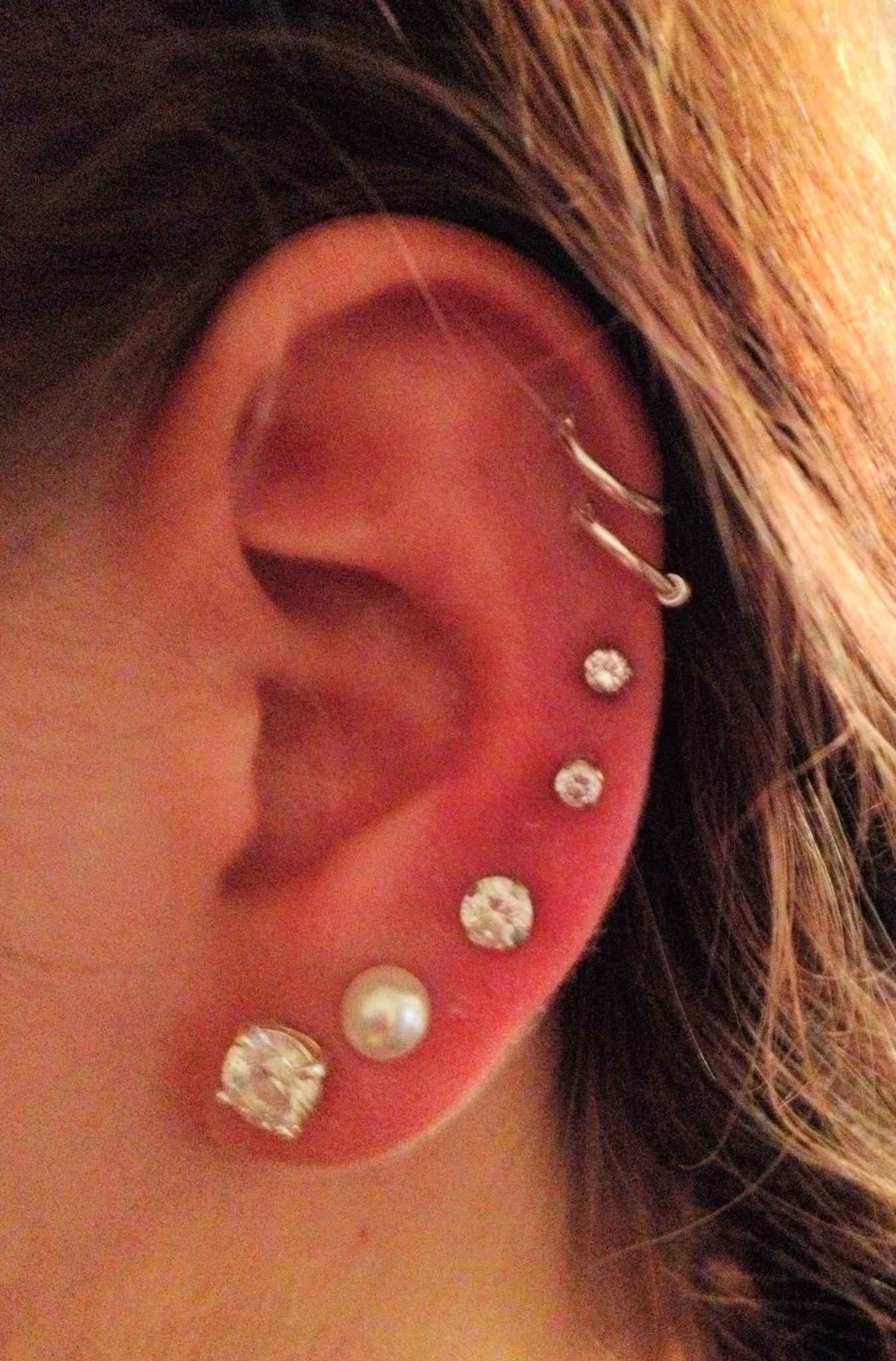 7 ear piercings | inked & pierced. | Pinterest Ear Piercings Pinterest
