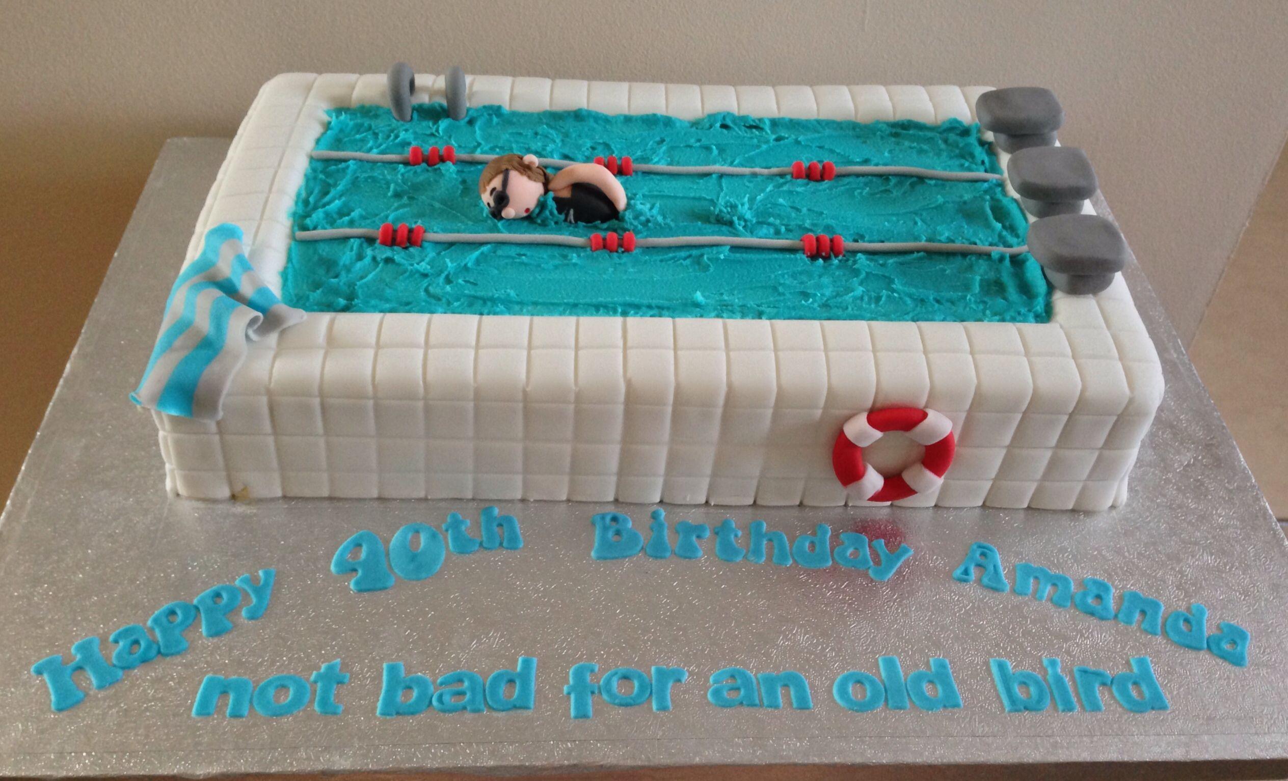 Swimming pool birthday cake cakes pinterest - Swimming pool birthday cake pictures ...