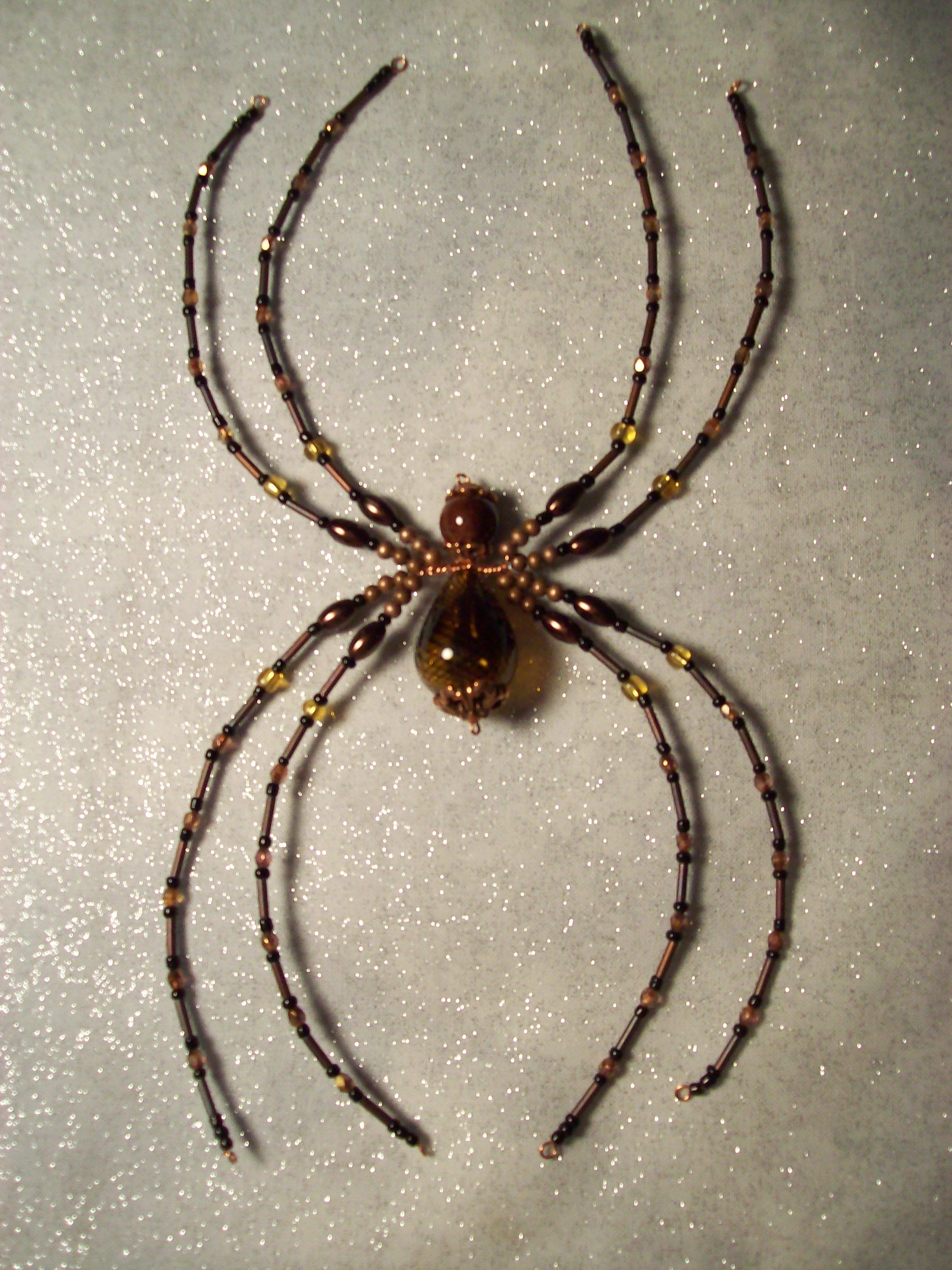 legs lenore beaded spider craft ideas