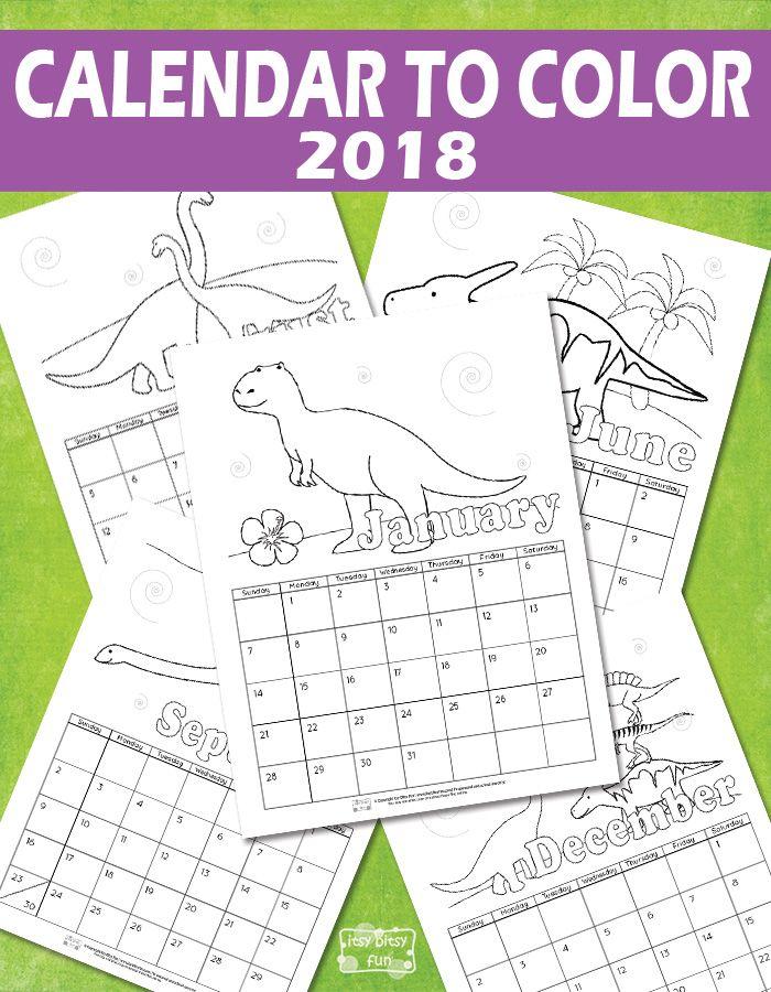 Printable Calendar for Kids 2018   Free printable, Kid activities ...