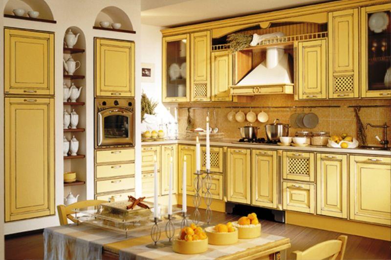 Yellow French country kitchen   I'm Walking on Sunshine