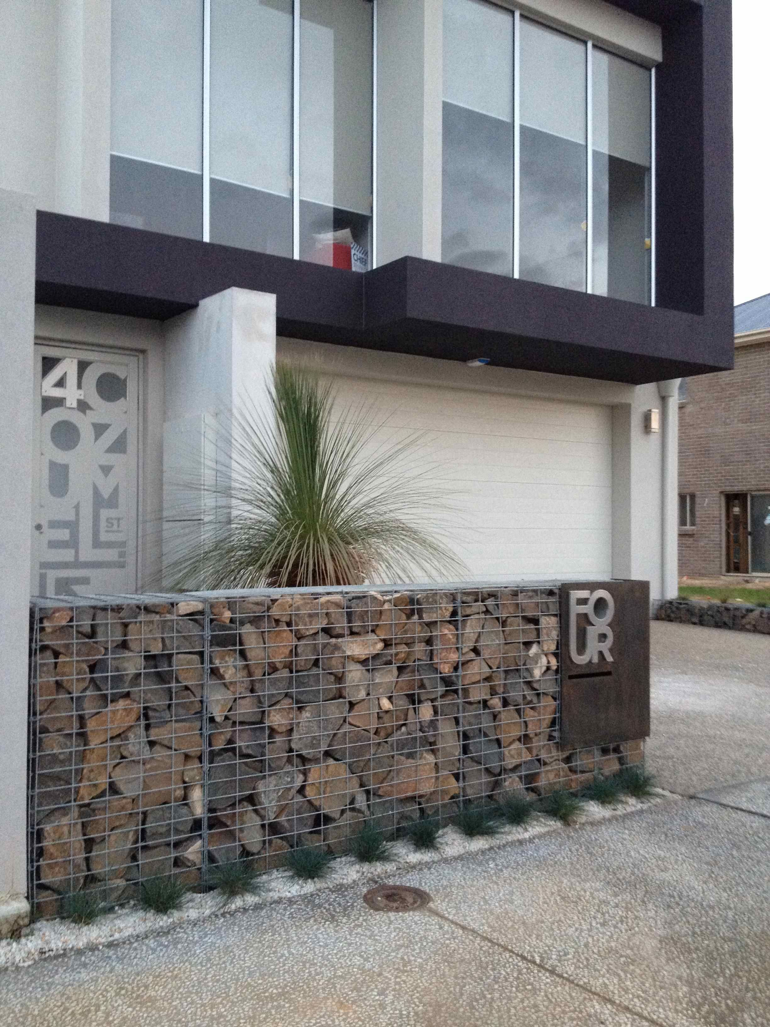 Gabion fence ideas gabion ideas pinterest Gabion wall design