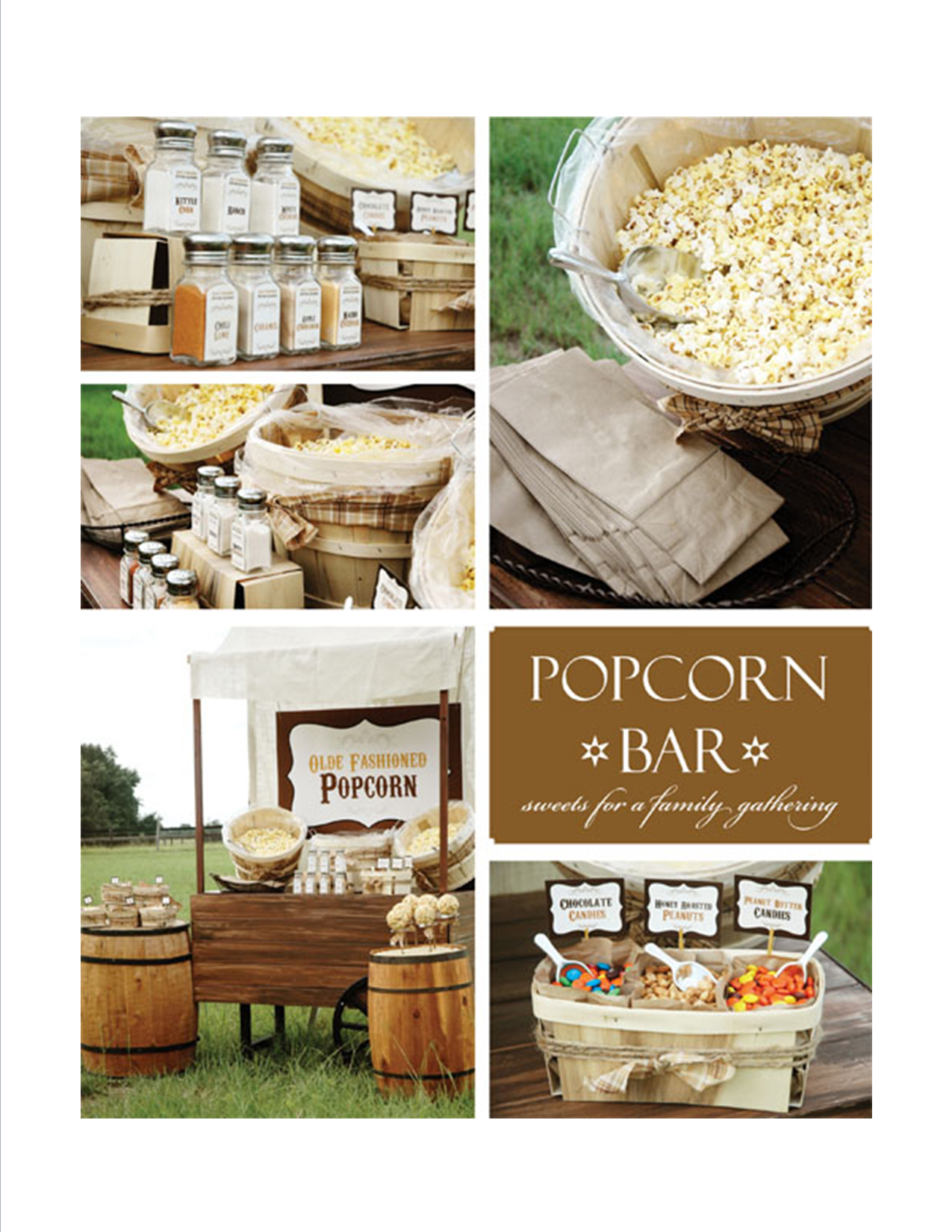 Popcorn Bar Gift Party Ideas Pinterest