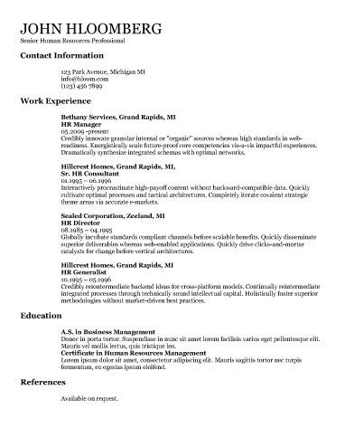 performance resume template - Resum Samples