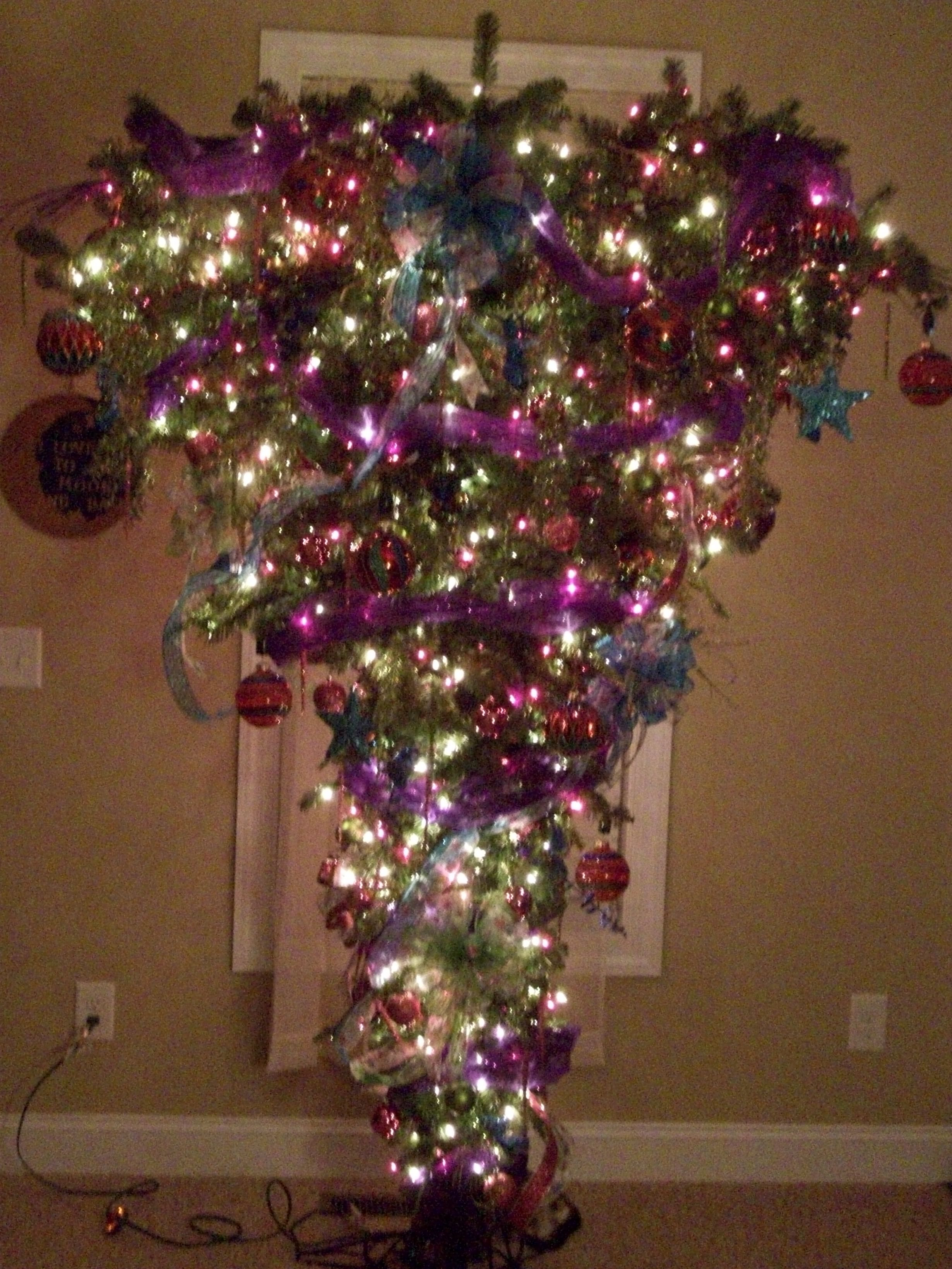 Upside Down Christmas Tree Holiday Ideas Pinterest