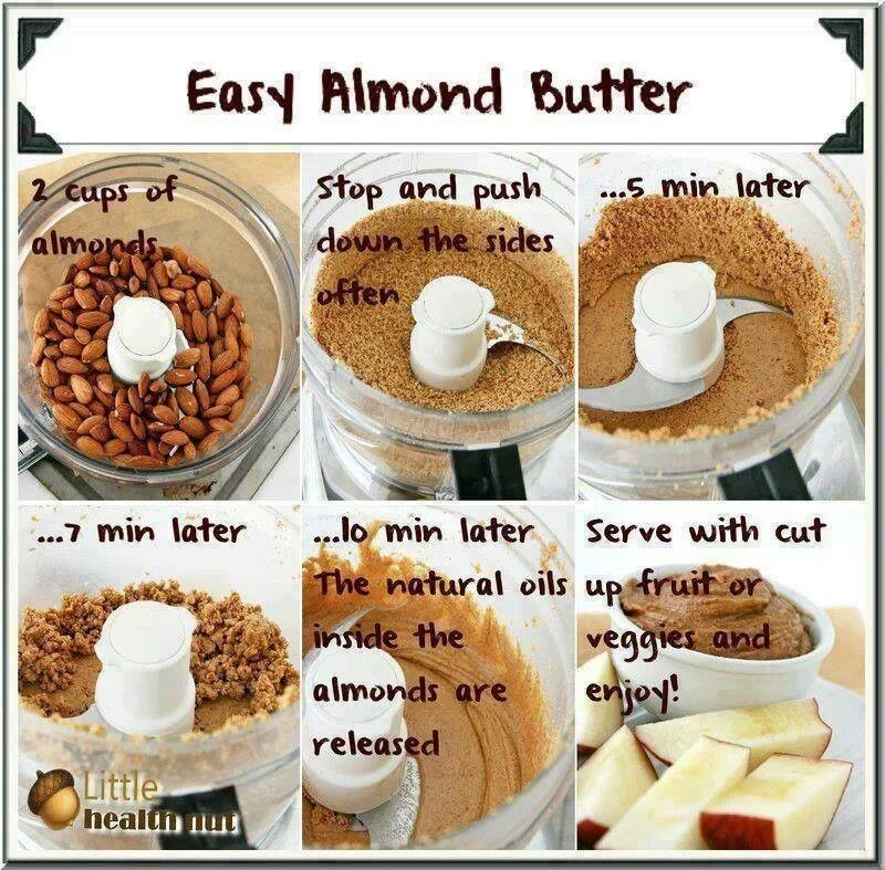 Homemade almond butter | yum things to make | Pinterest