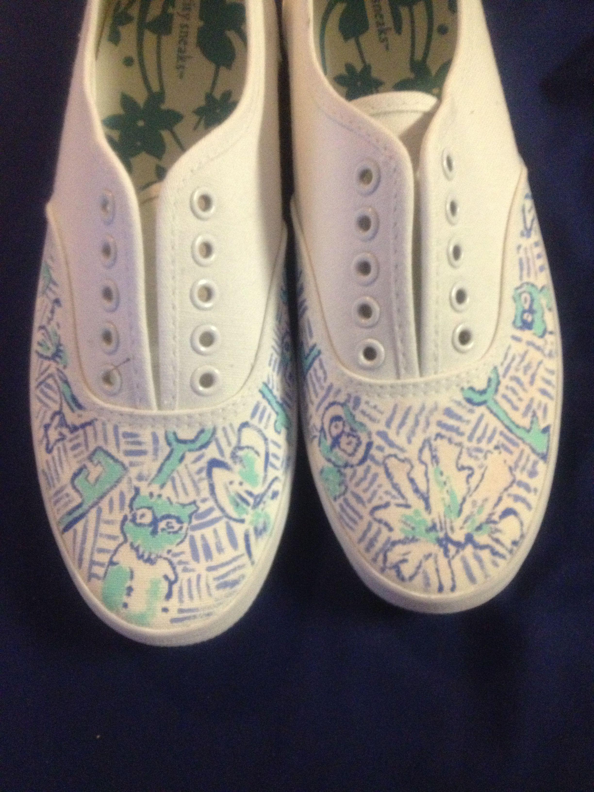 kappa kappa gamma canvas shoes with