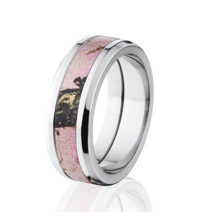 Mossy oak pink camo wedding ring woman jewelry pinterest for Pink camo wedding ring