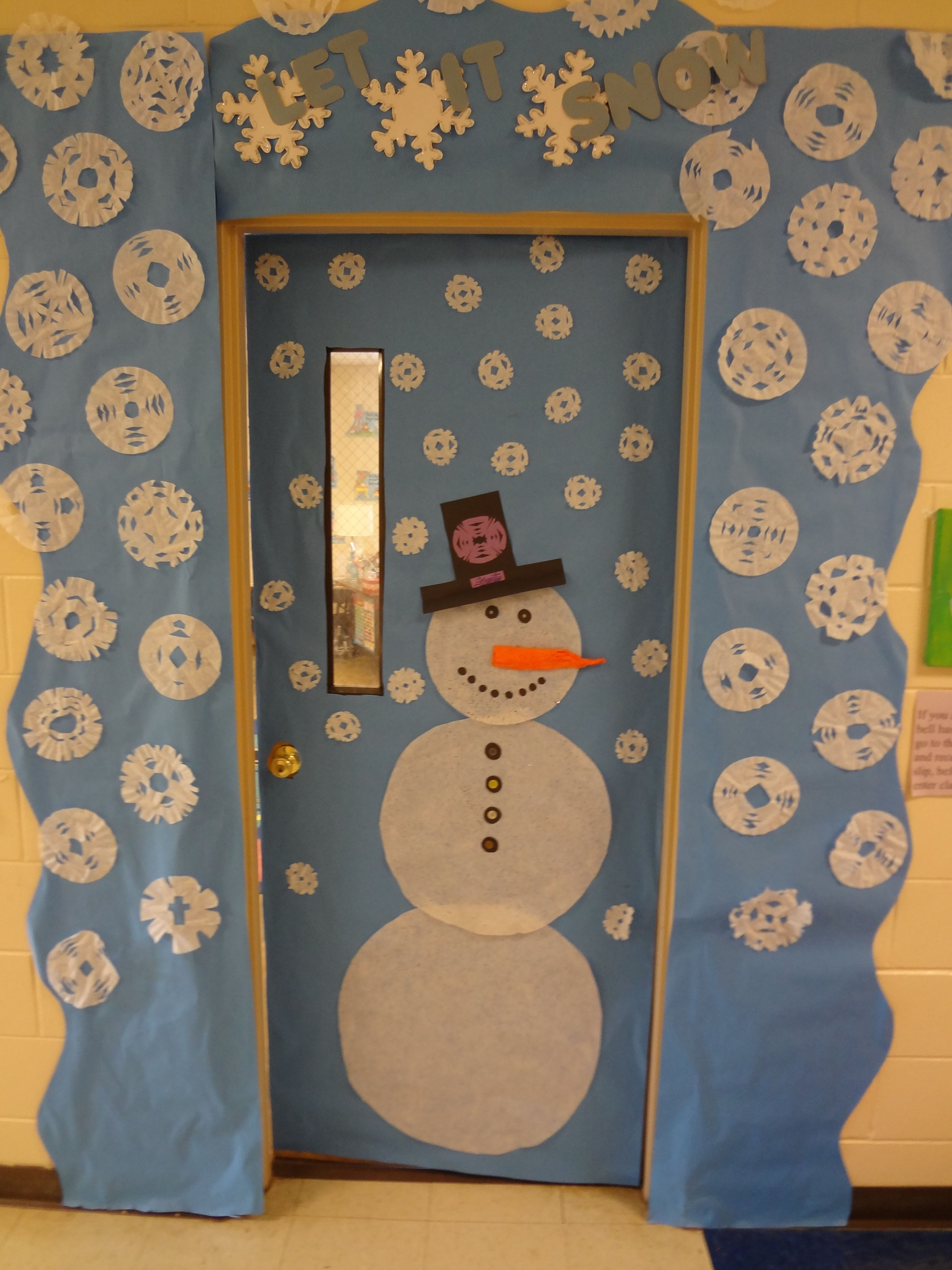 Classroom Decorating Ideas For January ~ Classroom door decorations for january