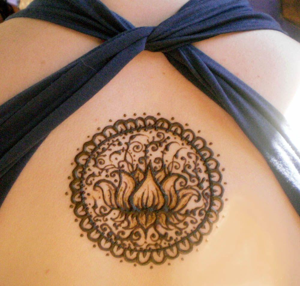 Mehndi Lotus Flower Tattoo : Henna lotus flower tattoo pinterest