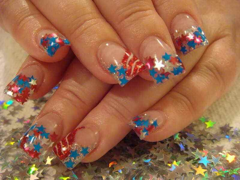 4th of july nail painting ideas