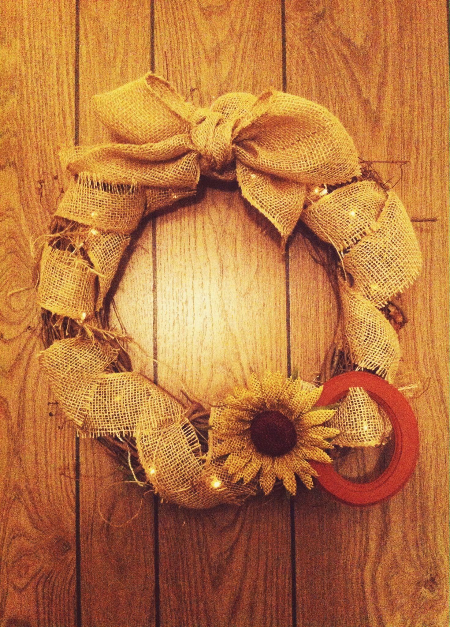 Diy burlap wreath diy pinterest
