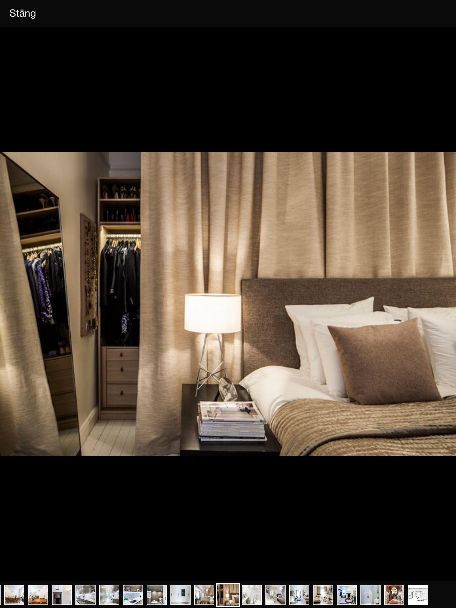 Garderob draperi