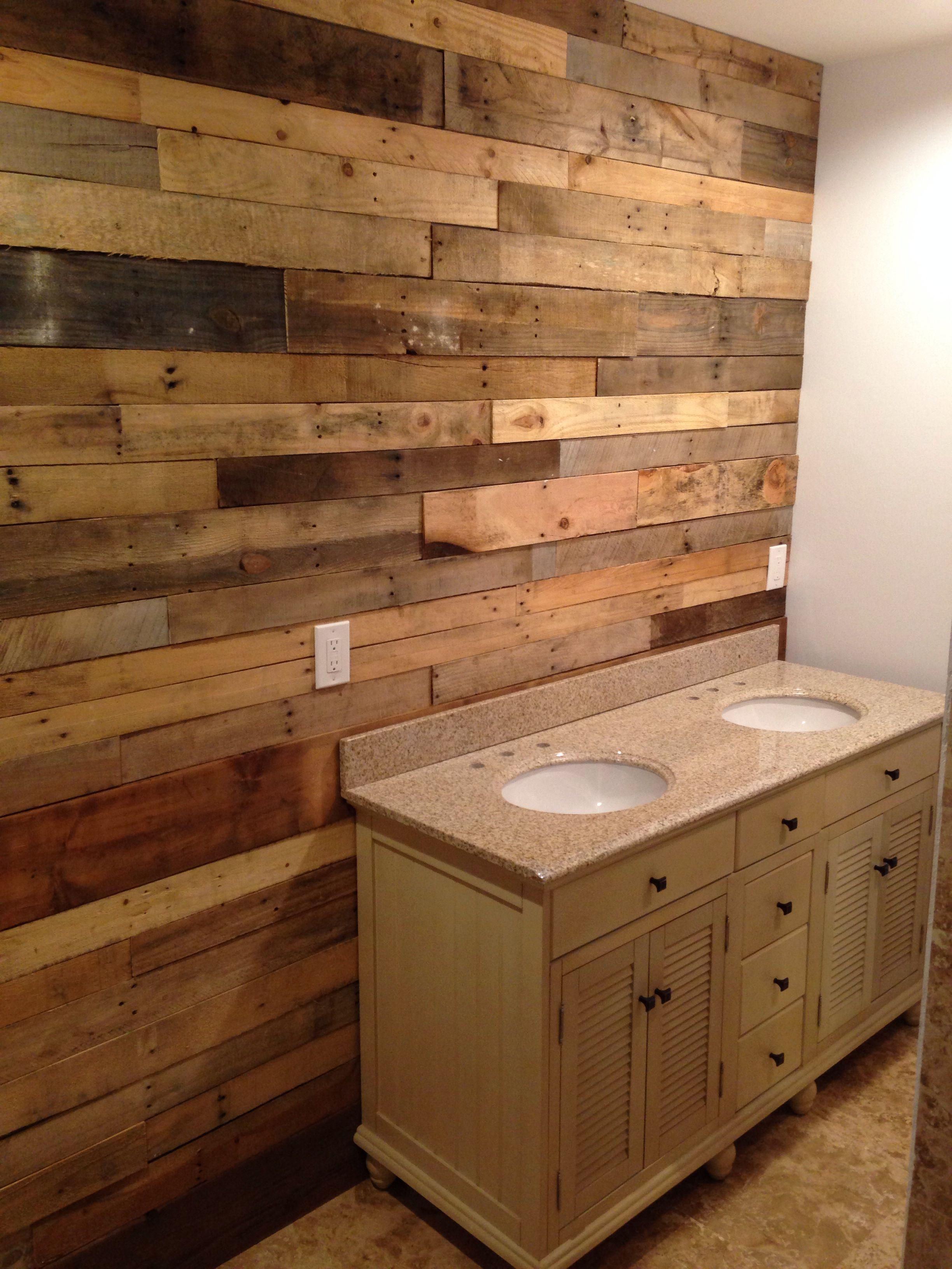Pallet Wall Bathroom Diy Pallet Wall Paneling Pallet Bedroom Walls Diy Tutorial Pallet