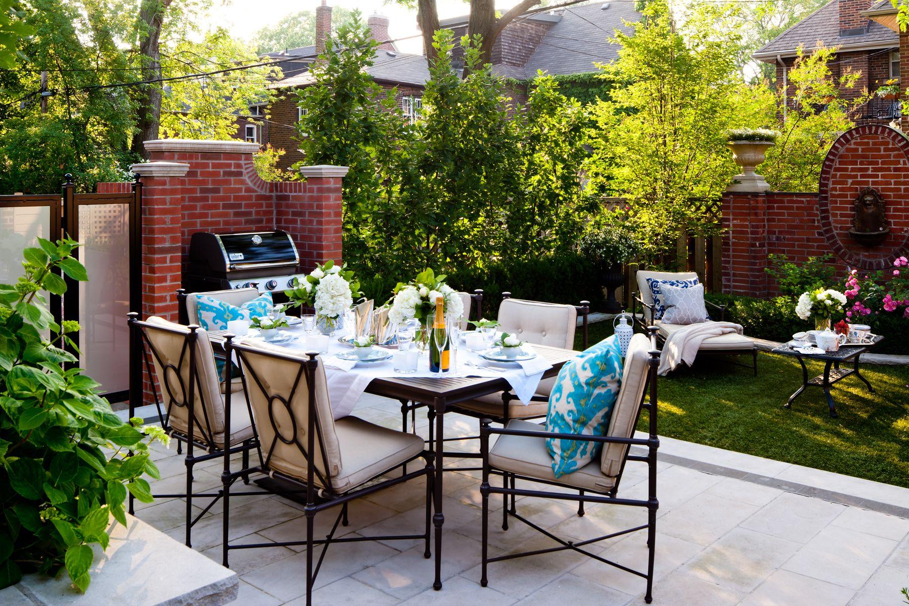 small narrow dining set patio