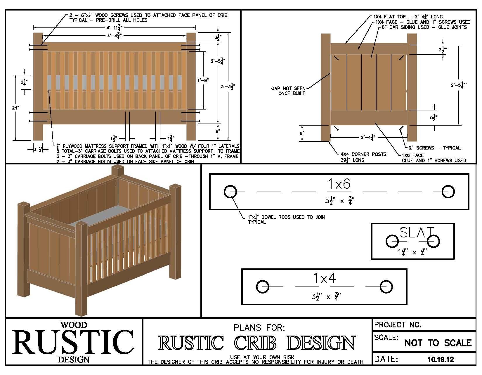 Rustic Baby Crib Plans   www.imgkid.com - The Image Kid ...