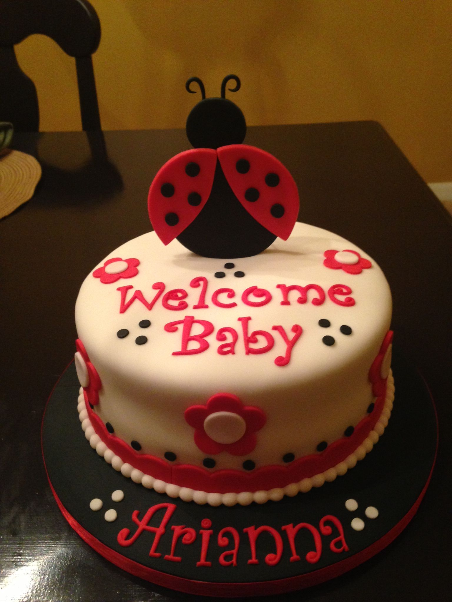 baby shower ladybug cake cake decoration pinterest