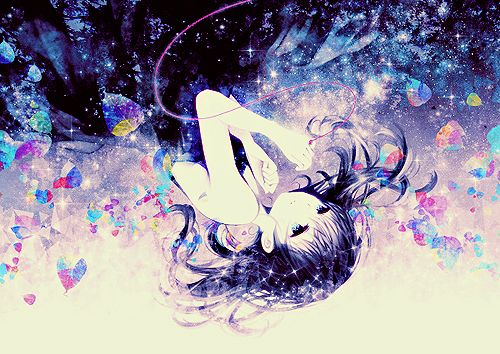 Galaxy anime girl colorful anime pinterest - Galaxy wallpaper for girls ...