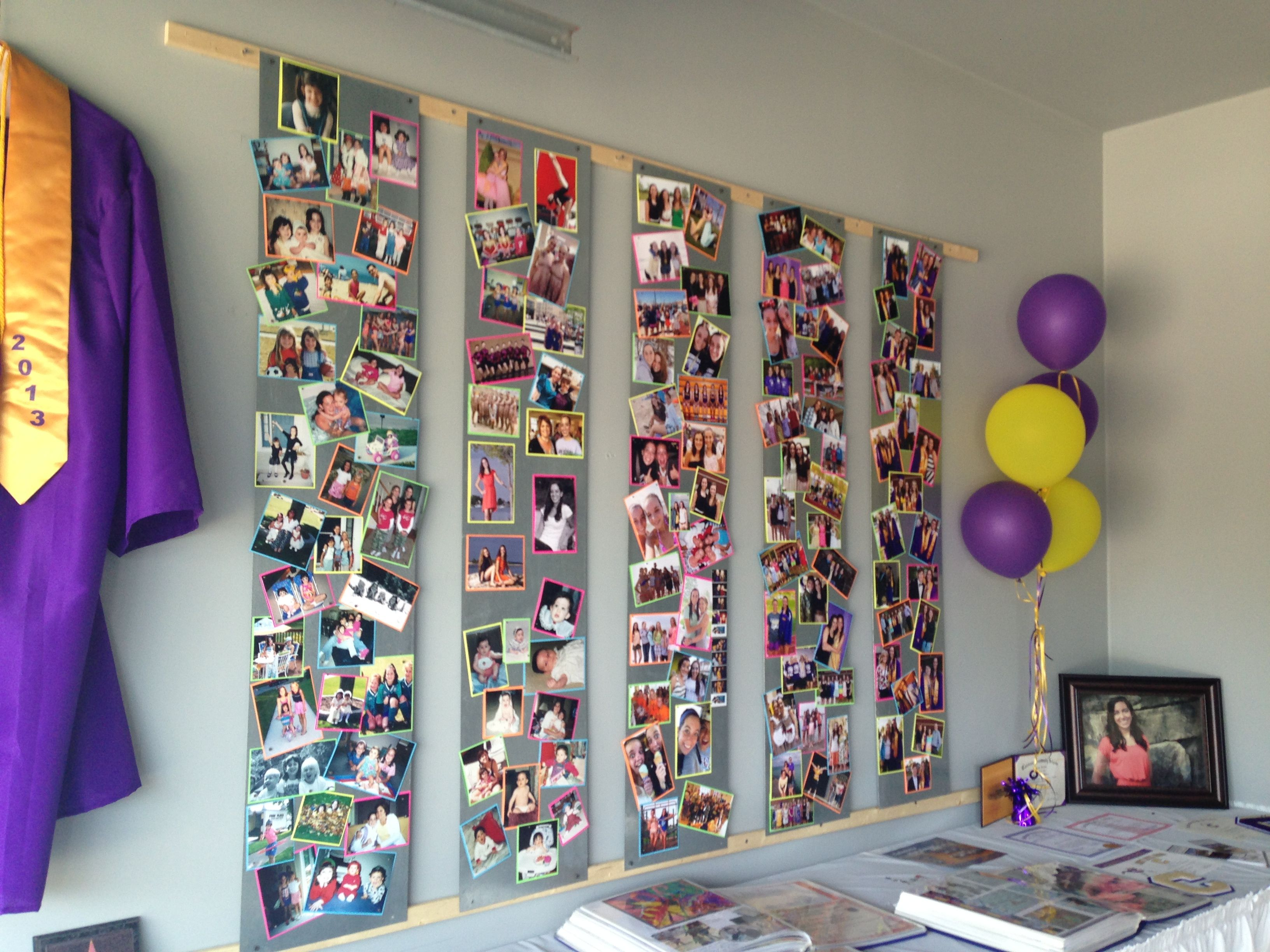 Graduation photo display boards