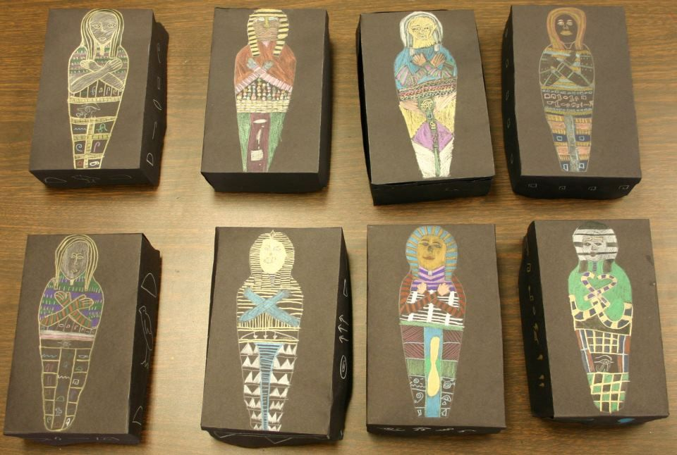 how to make egyptian sarcophagus