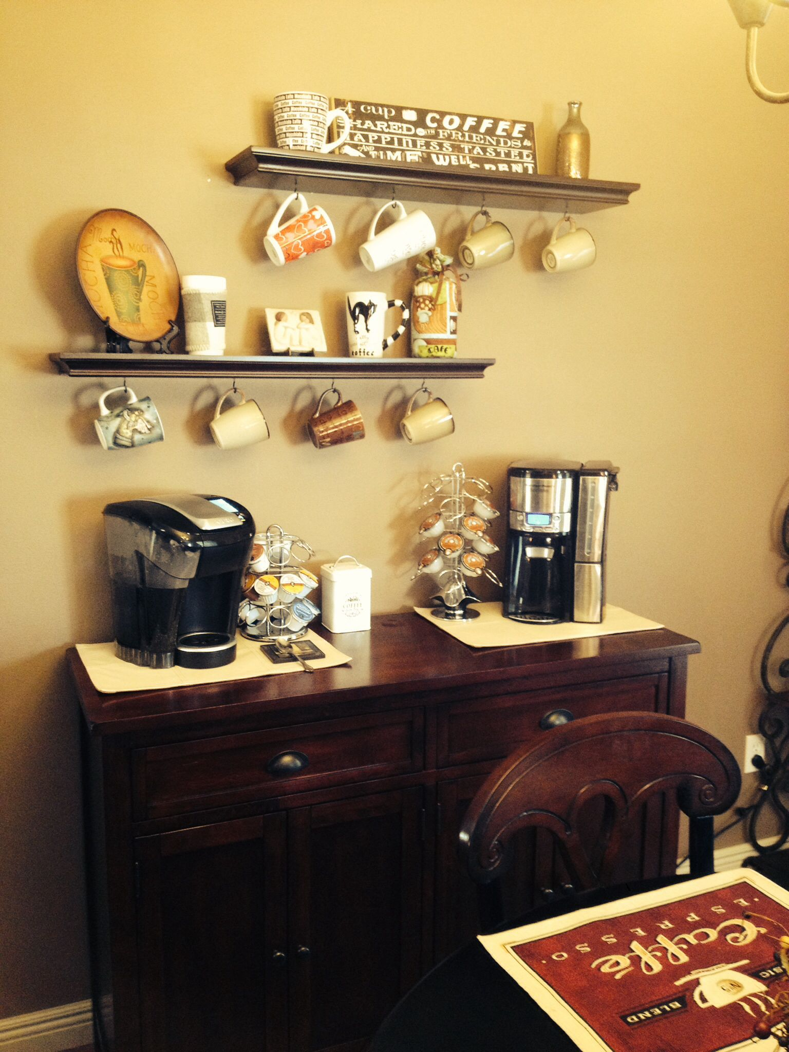 Coffee Bar Ideas Cothrin 39 S Cottage Pinterest